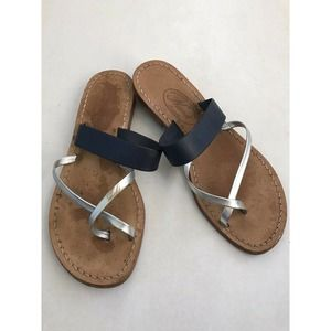 Nana Leather Thong Sandals Italy FLAWS